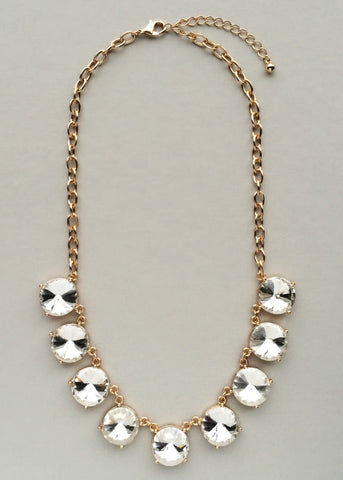 Golden Crystalline Necklace