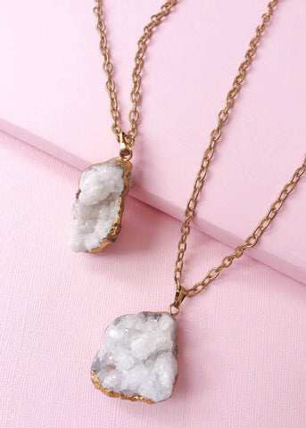 Gold-plated Druzy Necklace