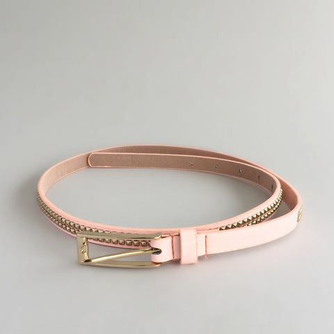 Soft Peach Studded Belt