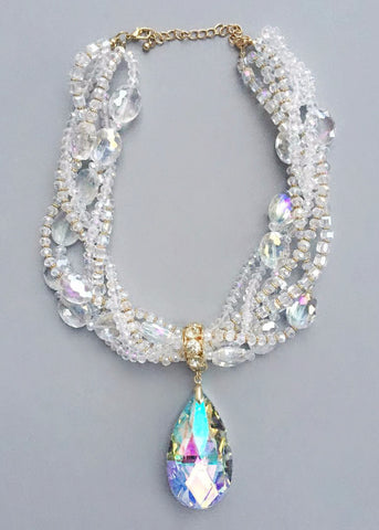 Iridescent Ice Fairy Necklace