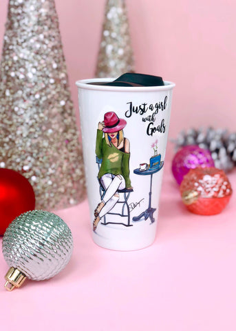 Adorable Girl With Goals Cup