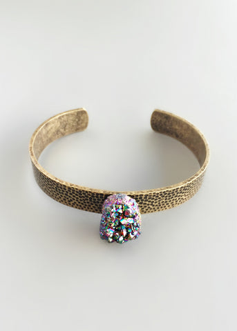 Titanium Druzy Bangle