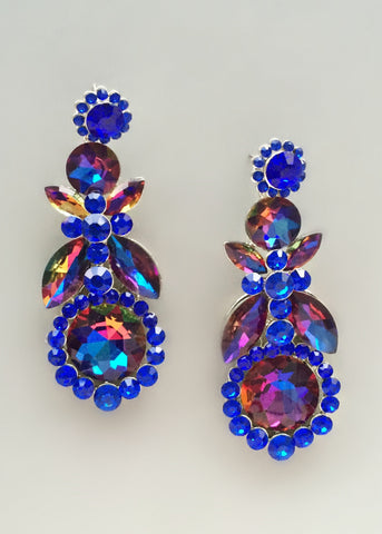 Midnight Galaxy Crystal Earrings