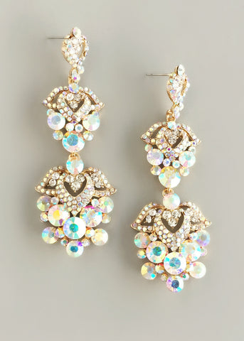 Wisteria Aurora Crystals Earrings
