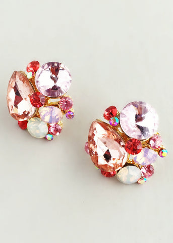 Pink Stardust Crystal Earrings