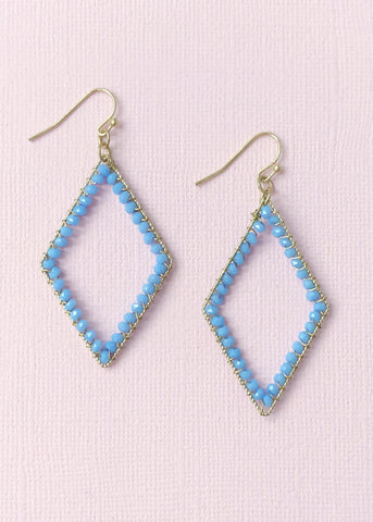 Periwinkle Beaded Earrings