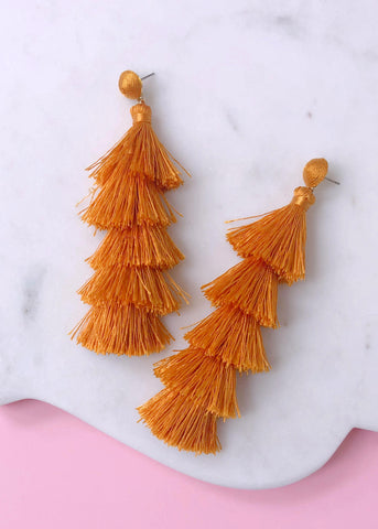 Machu Picchu Tassel Earrings