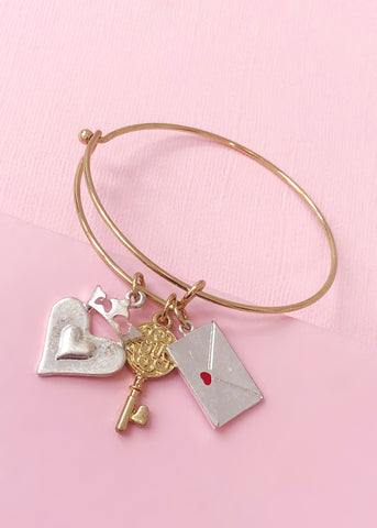 Love Letter Charms Bangle