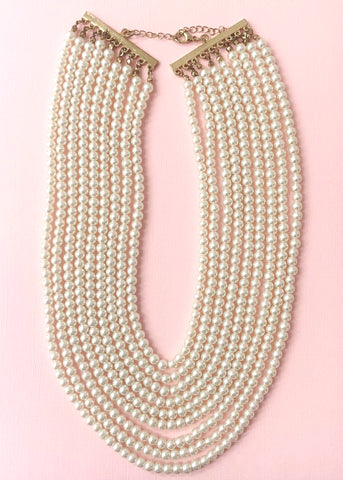 Classic Pearl Strands Necklace