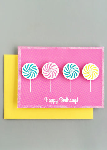Sweet Candies Birthday Card
