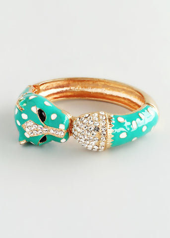 Mint Cheetah Bangle