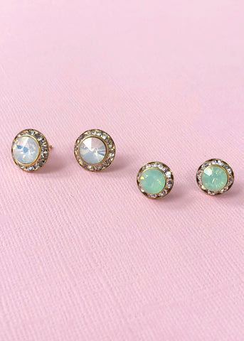 Elegant Diana Stud Earrings Set