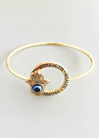 Hamsa Protection Bangle