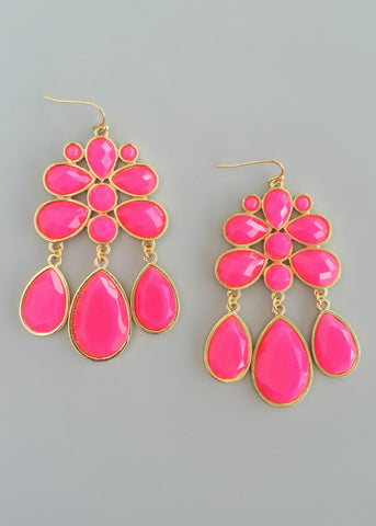 Hot Pink Samirah Earrings