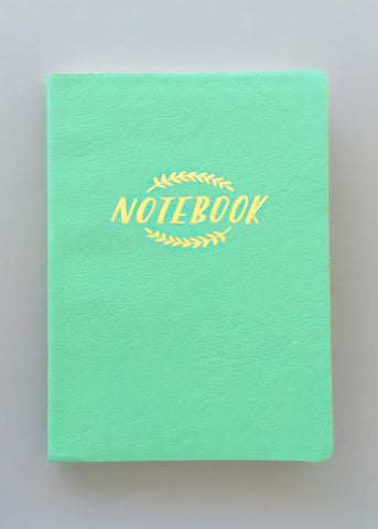 Mint Laurels Notebook Journal