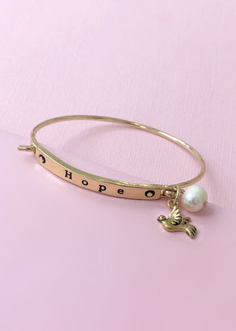 Hope Sweet Dove Bangle