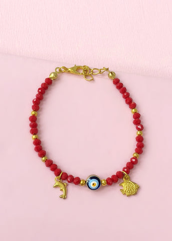 Red Evil Eye Bracelet - Made in Turkey