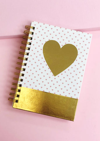 Gold Foil Heart Journal
