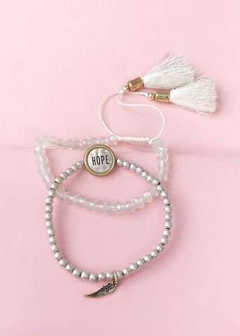 Hope White Tassels Bracelet