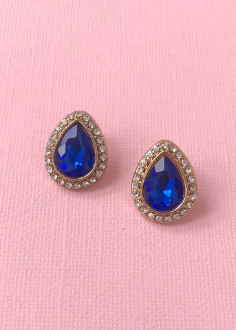 Rays of Sapphire Earrings