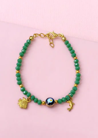Evergreen Evil Eye Bracelet - Made in Turkey
