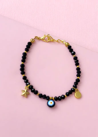 Black Evil Eye Bracelet - Made in Turkey