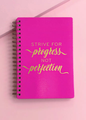 Progress Not Perfection Notebook