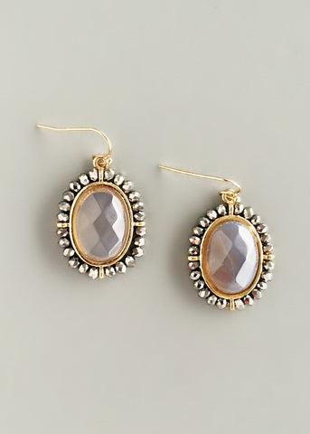 Elegant Grey Crystal Earrings