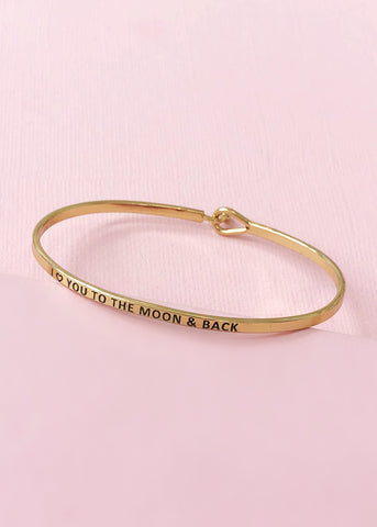 I Love You to the Moon and Back Bangle
