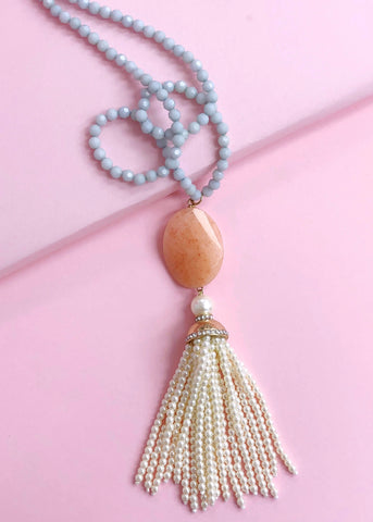 Sienna Pearls Tassel Necklace