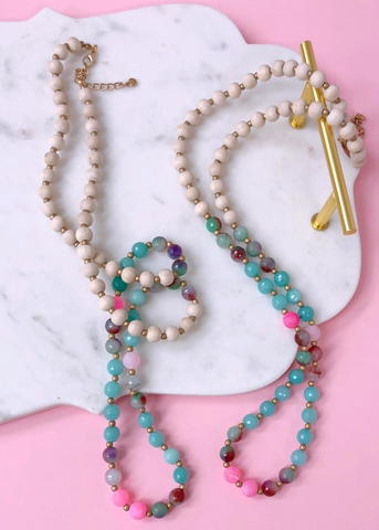 Pastel Quartz Mala Necklace