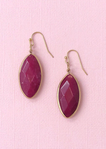 Maroon Quartz Earrings