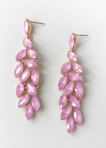 Never Enough Pink Sparkle Earrings