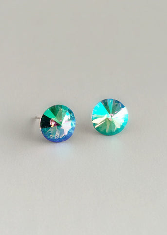 Dazzling Aurora Crystal Stud Earrings