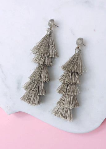 Swiss Mountains Tassel Earrings