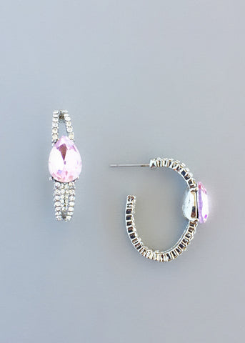 Sophisticataed Rose Crystal Earrings