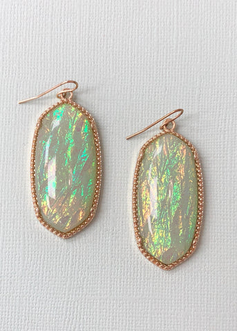 Sea-green Iridescent Earrings