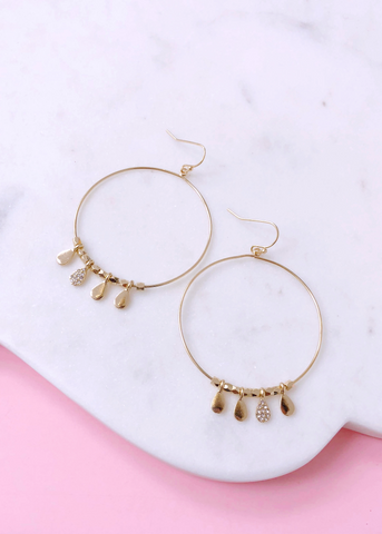 Golden Kiss Hoop Earrings