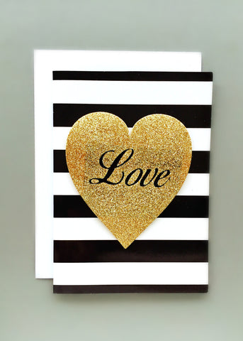 Heart Love Glitter Card