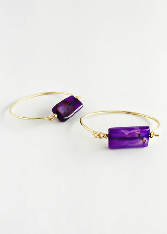 Purple Quartz Lauren Bangle
