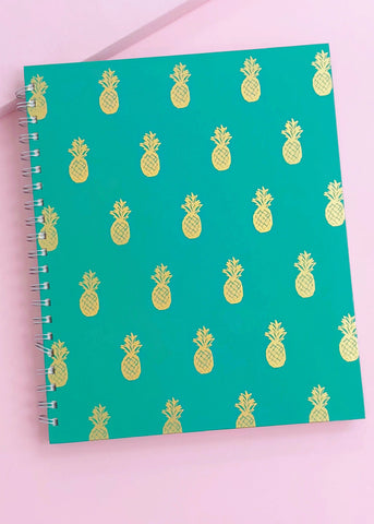 Large Pineapple Spiral Notebook