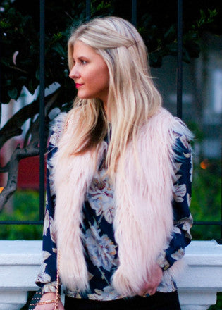 Blush Faux Fur Vest