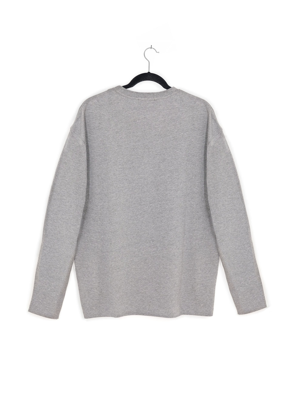 Grey Long Sleeve Dét Red Box Tee