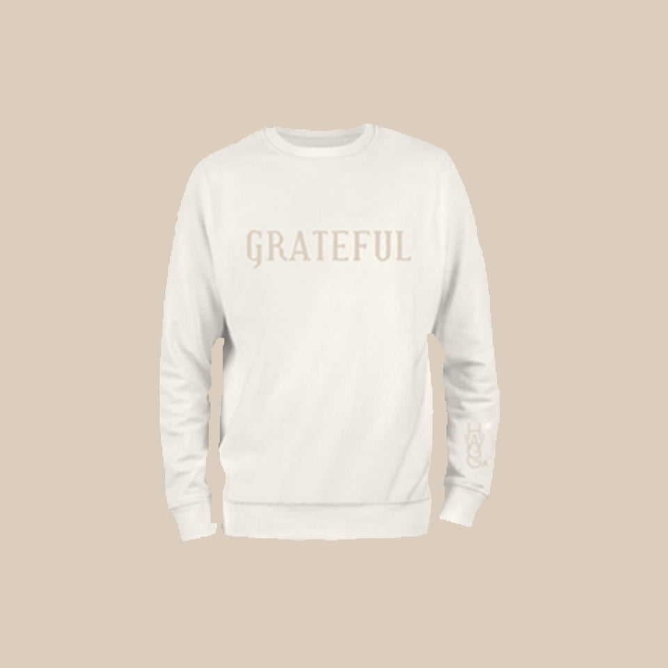 Grateful Crewneck Monochrome Set