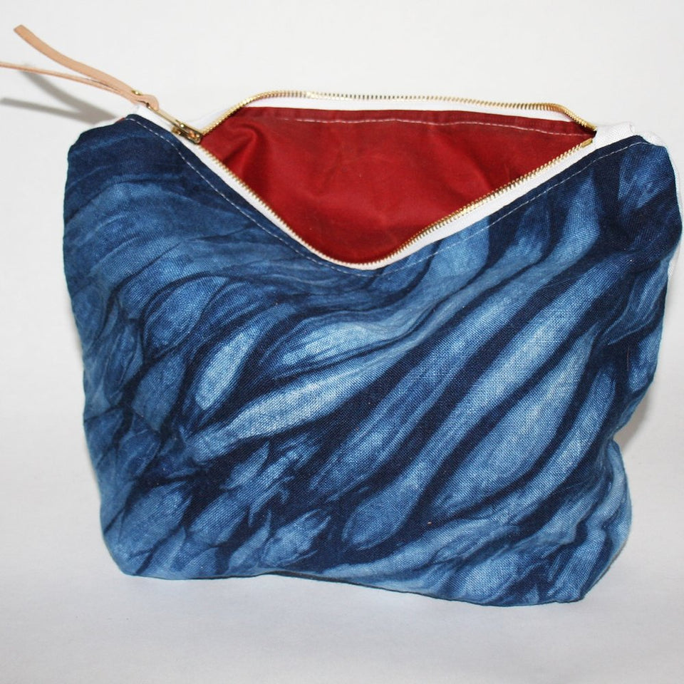 Extra Large Cosmetic Bag - Wave