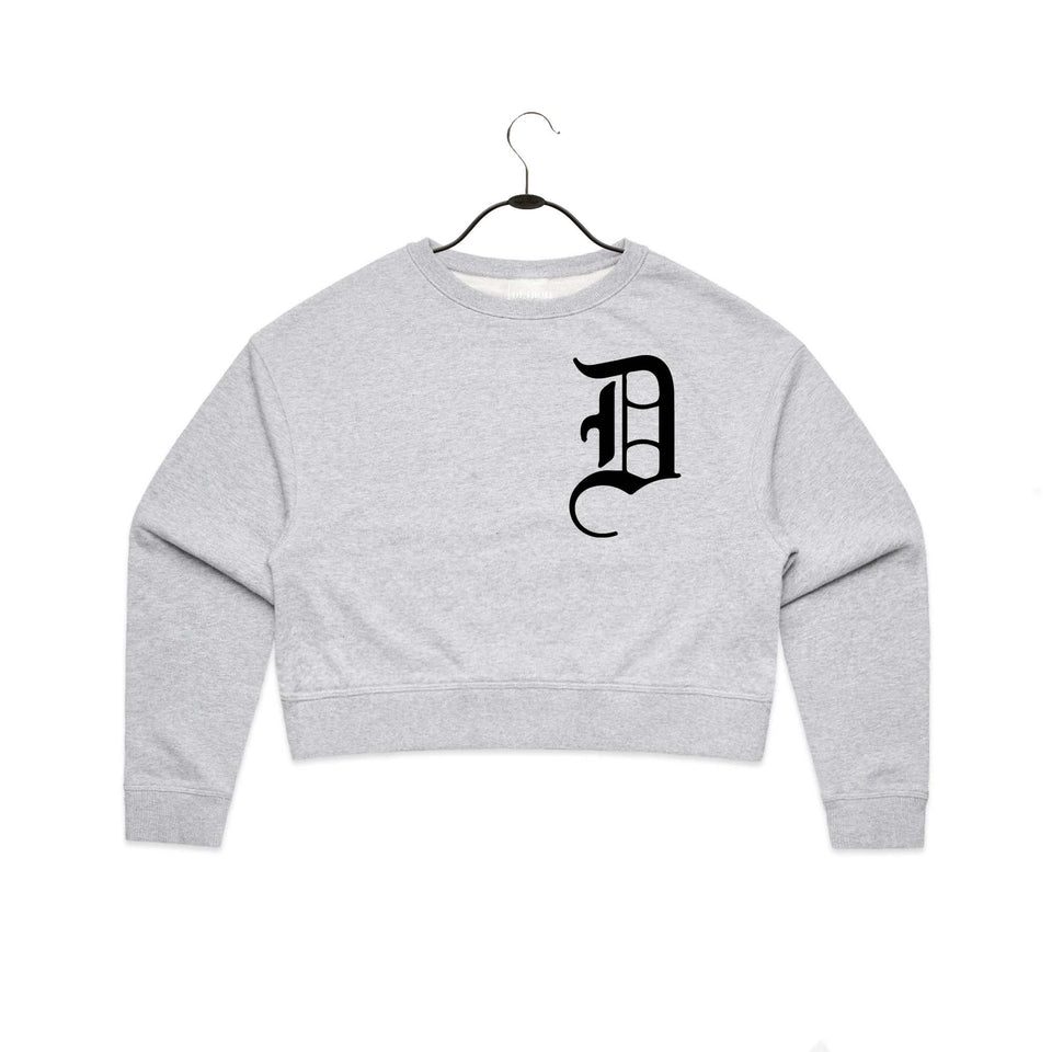 Old English D Cropped Sweatshirt