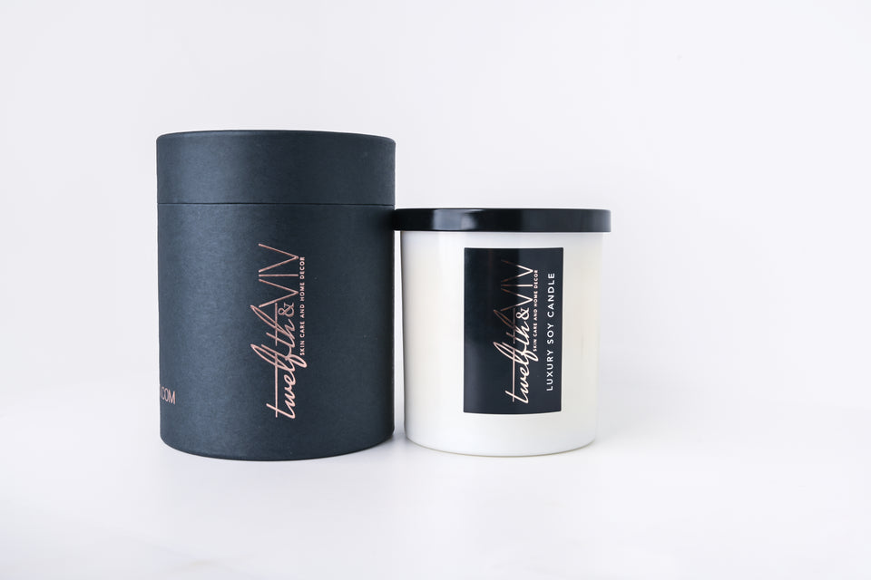 White Tea + Lavender Luxury Soy Candle