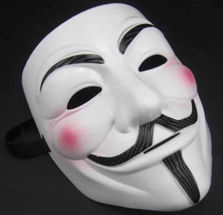 4X Vendetta V Face Mask Halloween Bonfire Night Guy Fawkes Anonymous Fancy Dress