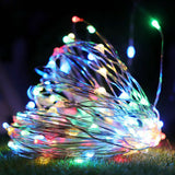~ Multicoloured 100 LED Light Battery Operated Fairy String Christmas Decoration