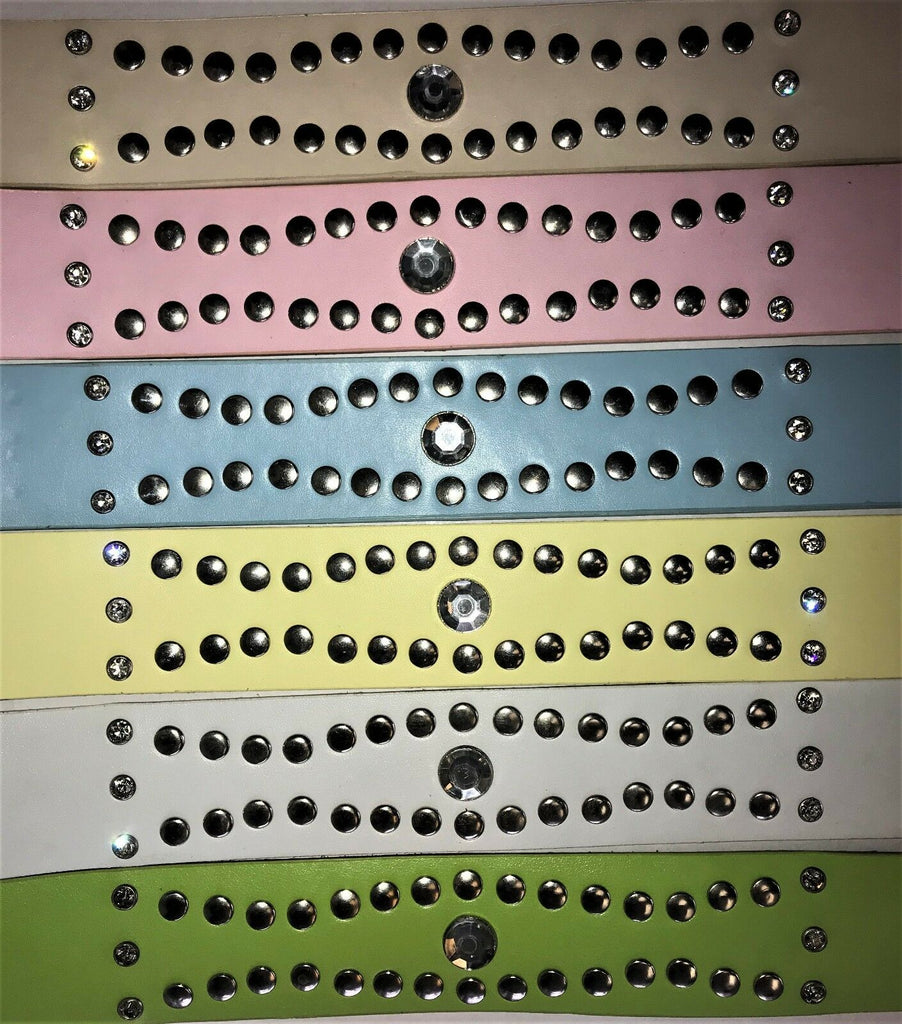 "LADIES DIAMANTE FASHION WOMEN'S LEATHER BELTS WITH STUDS 1.5"" WIDE BUCKLE BELTS"